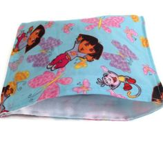 dora and boots reusable snack bag