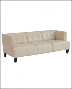 Macys White Leather Sofa