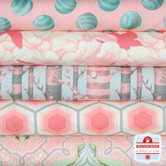 Tula Pink Bumble collection in Sorbet Fabric Bundle x 5 – blondedesign