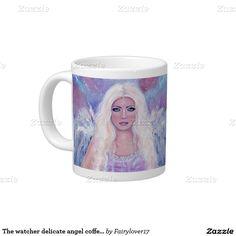 The watcher delicate angel coffee mug by Renee 20 Oz Large Ceramic Coffee Mug