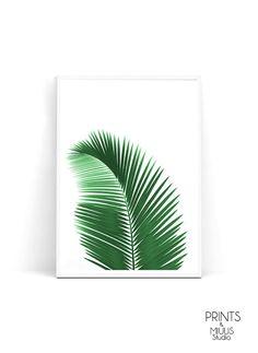 Palm leaf print palm print botanical print by PrintsMiuusStudio