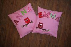 ♥ für die Eulenfans Anna & Emma ♥  #Mädchentraum #Kinderzimmerdeko #Kissen