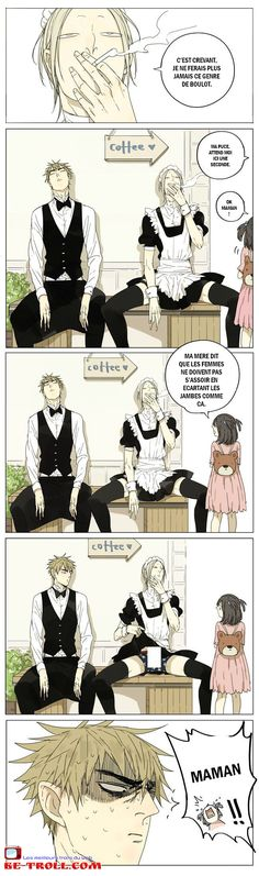 Les filles ne doivent pas s'asseoir en écartant les jambes... #Manga #Anime