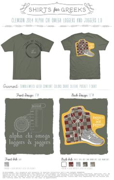 Alpha Chi Omega   AChiO   Loggers and Joggers   Mixers   Socials   Tshirt Ideas   shirtsforgreeks.com