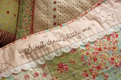 cute quilt finish.....love by Kimara