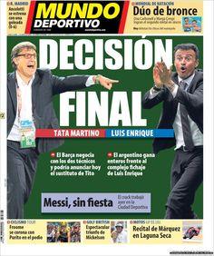Los Titulares y Portadas de Noticias Destacadas Españolas del 22 de Julio de 2013 del Diario Mundo Deportivo ¿Que le pareció esta Portada de este Diario Español?
