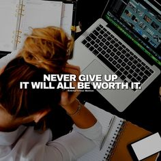 Never give up // follow us @motivation2study for daily inspiration