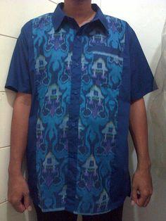 Kemeja Batik Pria Kombinasi katun