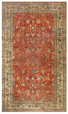 Antique Tabriz Rug, Country of Origin: Persia, Circa date: Early 20th Century 11 ft 2 in x 18 ft 6 in (3.4 m x 5.64 m)