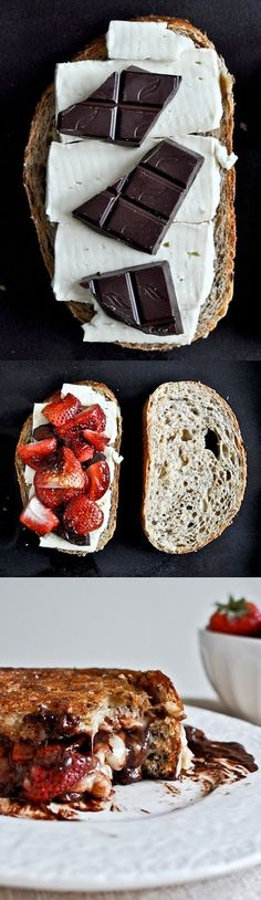 Strawberry, cream cheese & chocolate goodness! Mmm sounds like the ...