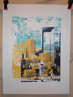 Altered Pittsburgh Silkscreen Print by zappamade on Etsy
