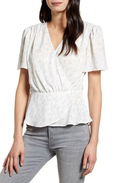 Elevate your work-to-weekend wardrobe with an essential peplum blouse finished with flowy short sleeves. Style Number: Available in stores. Empire Waist Tops, Flowy Shorts, Peplum Blouse, Blouse Online, Plus Size Blouses, Blouse Styles, Nordstrom, Tunic Tops, Clothes For Women