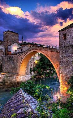 Old Bridge of Mosta, Bosnia-Herzegovina   by faceymcface1