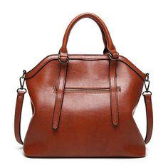 Ekphero Vintage PU Leather Handbag Shoulder Bag Crossbody Bag For Women