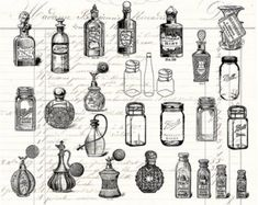 old fashioned apothecary perfume bottles - Google Search