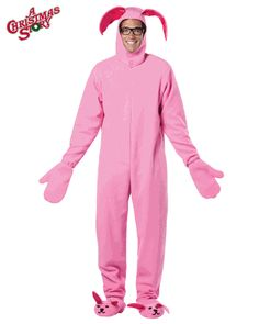 Pink Bunny Suit, A Christmas Story Bunny Costume