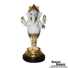 This Ginnie & Ginnie Exclusive Dancing Ganesh / Pagdi is a product from our Statue & Sculptures Collection. It is made of polystone and it got Marble / Silver finish on it. Its approx LxWxH is 13x7x4.5 inches. It is of approx 800 grams. Unique Code of this product is M400116.13.GDE