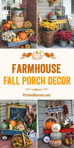 Farmhouse Fall Porch Decor - Festive Fall Porch Decor with DIY Repurposed Farmho. Farmhouse Fall Porch Decor - Festive Fall Porch Decor with DIY Repurposed Farmhouse Decor Fall Home Decor, Autumn Home, Diy Home Decor, Thanksgiving Decorations, Seasonal Decor, Autumn Decorations, House Decorations, Thanksgiving Ideas, House With Porch