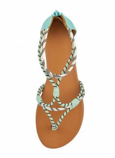 Tegus Winding Rope Sandals Turquoise