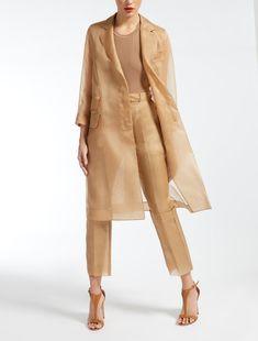 Silk organza coat c Look Fashion, Hijab Fashion, Indian Fashion, Fashion Dresses, Womens Fashion, Fashion Design, Fashion Trends, Couture Fashion, Organza Dress