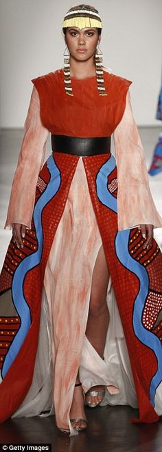 Indigenous inspiration: Many of the designers featured work spattered with traditional indigenous prints and earthy colours