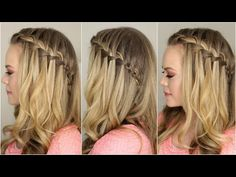 How to do a Waterfall Braid - YouTube