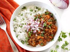 Slow Cooker Coconut Curry Lentils are a hands-off, fiber filled, freezer friendly vegan dinner. Budgetbytes.com