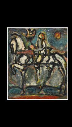 """Georges Rouault - """" Jeanne d'arc """", c. 1939/45 - Oil on paper mounted on canvas - 27 x 23,2 cm (*)"""