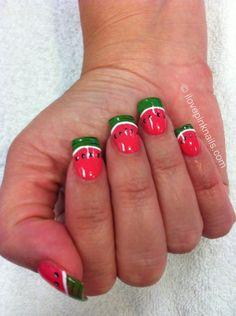 Watermelon nails - so summery