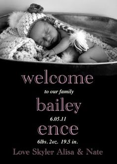 baby announcement @Heather Creswell dellinger