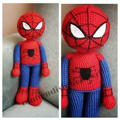 Amigurumi Spiderman Örümcek Adam Pattern Ücretsiz Tarif Crochet Dolls, Crochet Hats, Cartoon Games, Spiderman, Handmade, Crafts, Doll Outfits, Buen Dia, Recipes