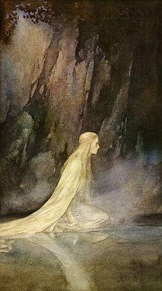 the lady of the lake. John Bauer