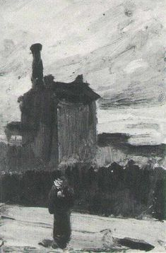 Vincent van Gogh: The Paintings (Twilight, before the Storm: Montmartre). Summer 1886. Oil on cardboard. Collection: G. Darrieutort, France.