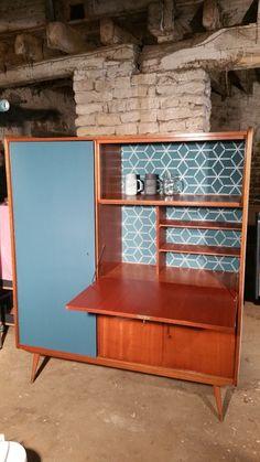"""A VENDRE - Secrétaire - penderie vintage """"Lilo"""" - Mon Mobilier Industriel & Vintage - Cathy Herdier"""