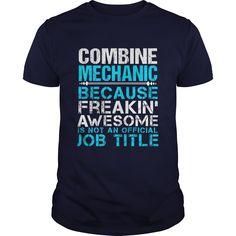 COMBINE MECHANIC T-Shirts, Hoodies. BUY IT NOW ==► https://www.sunfrog.com/LifeStyle/COMBINE-MECHANIC-Navy-Blue-Guys.html?id=41382