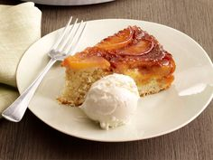 Peach-Almond Upside-Down Cake recipe from Food Network Kitchen via Food Network