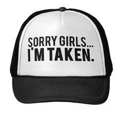 68e355d4a06 Sorry Girls Im Taken Letters Print Baseball Cap Trucker Hat For Women Men  Unisex Mesh Adjustable Size Drop Ship