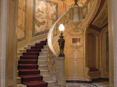 Stairs in the Hotel Particulier de la Paiva on the Champs Elysées