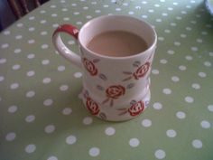 A cup of tea! My lovely sampler mug from Whittards of Chelsea.