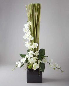 """""""Timeless"""" Floral Arrangement by John-Richard Collection at Horchow (This is made with silk flowers! I might attempt :) Contemporary Flower Arrangements, Tropical Flower Arrangements, Silk Floral Arrangements, Beautiful Flower Arrangements, Beautiful Flowers, Tropical Flowers, Arte Floral, Deco Floral, Ikebana"""