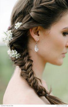 Side Plait wedding hair idea|