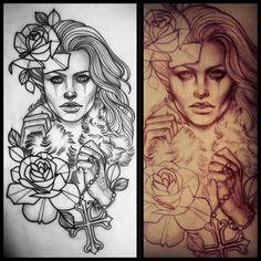 Tattoo Artwork by Liz Hapi -   J'aime le dessin de la FLEUR