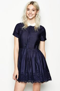 HARWICH S/S PINTUCK DRESS