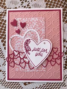 Valentines Day Cards Handmade, Valentine Greeting Cards, Greeting Cards Handmade, Valentine Stuff, Diy Christmas Cards, Holiday Cards, Christmas Ornament, Embossed Cards, Assisted Living