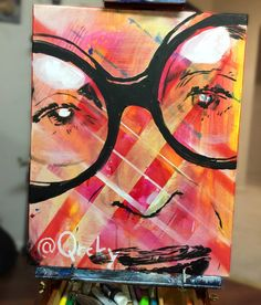 Icon Iris Apfel #irisapfel #icon #fashion#painting #Art #qrcky #colorful #smile #hair #sunset #swag #hot #funny #life
