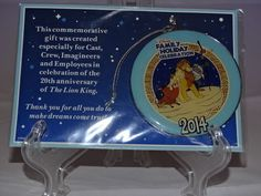 Disney 4 New Commemorative Cast Member Ornaments and Pin 2008 2009 2012 2014