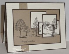 Layered Lovely as a Tree--early espresso and crumb cake cardstock and early espresso ink