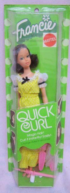Quick Curl Francie Buffy, Quick Curls, Devon, Barbie Paper Dolls, Boucle Yarn, Vintage Dolls, Barbie Accessories, Barbie Friends, Fashion Dolls
