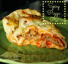 Spindles Designs by Mary & Mags: Spicy Pizza Pie