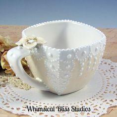Whimsical Bliss Studios - Lace Squared Mug
